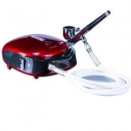 Airbrush Machine HS-M901 Red