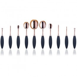 Oval Brushes Rose Gold 10 Set Brushes