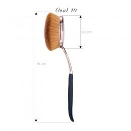 Oval Brushe 10 Rose Gold 10 Set Borstar
