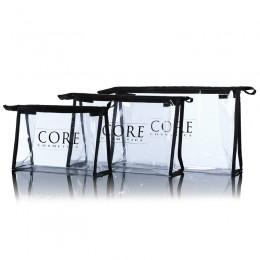 Transparent kosmetyczna Kosmetyczka - 3 rozmiary CORE cosmetics