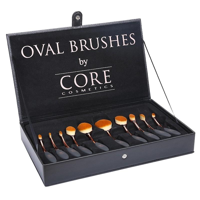 Ovale Brushes Rose Gold 10 Set Borstar Box