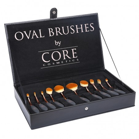 Oval Brushes Rose Gold 10 in set