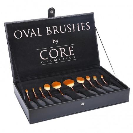 Oval Brushes Rose Guld 10 Set Borstar