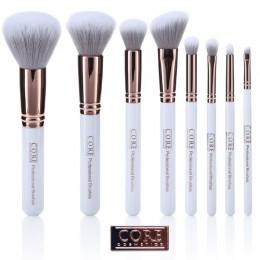 Hvit rose gull 8 sett profesjonelle makeupbørster - sminkebørster i høyeste kvalitet