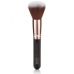 Large Powder Brush Rose Gold Black