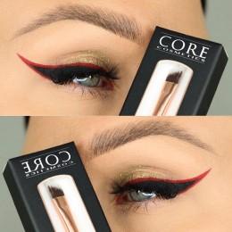 Anna mymakeup Vinklet øjenbrynsbørste / vinklet børste - Eyeliner-børste bedst i test