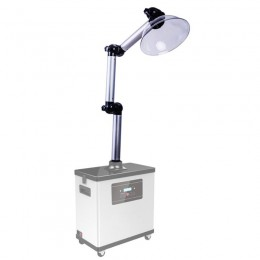 Flexible Arm in Aluminum for fume extractor suitable hairdressing salons - including plastic head - Fume extractor not included