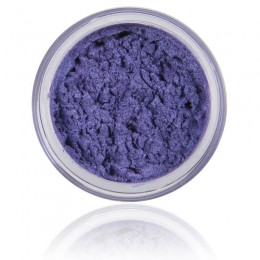 Mineral Eyeshadow Gemstone | 100% Pure Mineral & Vegan. Mineral make-up, bright blue purple shimmery color.