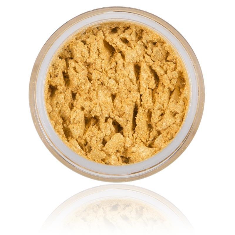 Mineral Ögonskugga Sun Stone 100% rena mineral & Vegan. Mineral smink , stark gul / guld skimmrig kulör.
