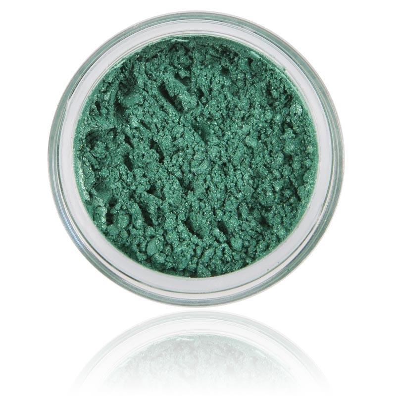 Mineral Ögonskugga Ocean|100% rena mineral & Vegan. Mineral smink , stark grön / skimrig kulör.