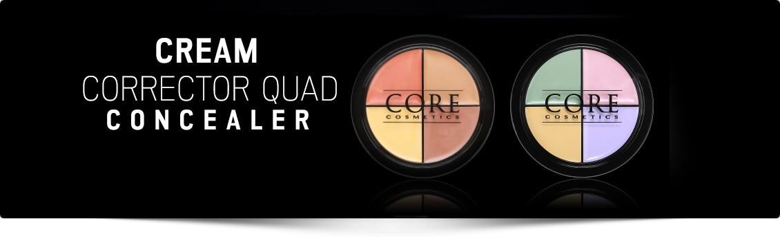 Concealer Corecction Quad - fargekorrig - korriger, gjem og uthev.