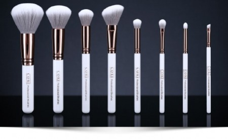 Makeup Brushes set Rose Gold in 8 pieces - exclusive