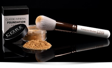 Mineral foundation in powder formula
